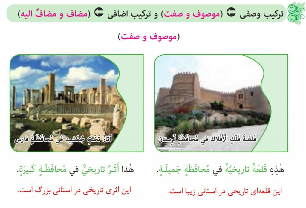 گام به گام درس 7 عربی نهم